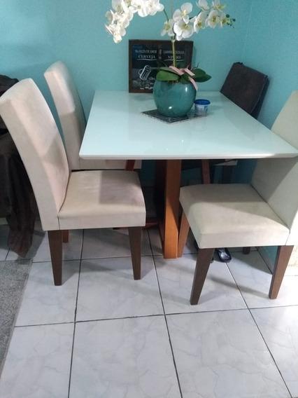 Mesa De Jantar Laca Com 4 Cadeiras
