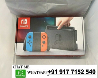 Brand New Nintendo-switch-32gb-gray-console-with-neon-red