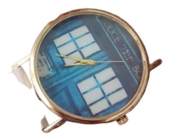 Relogio Doctor Who Unissex Pulseira Branca Pronta Entrega