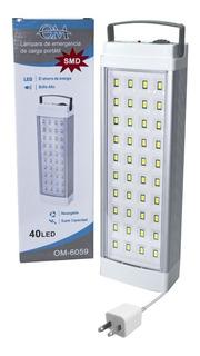 Luz De Emergencia De Aluminio Slt 40 Leds 12 Hs Autonomía