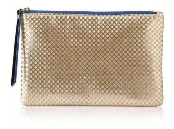 Bolsa De Mano Pequeña Color Dorado Tipo Clutch - Mary Kay