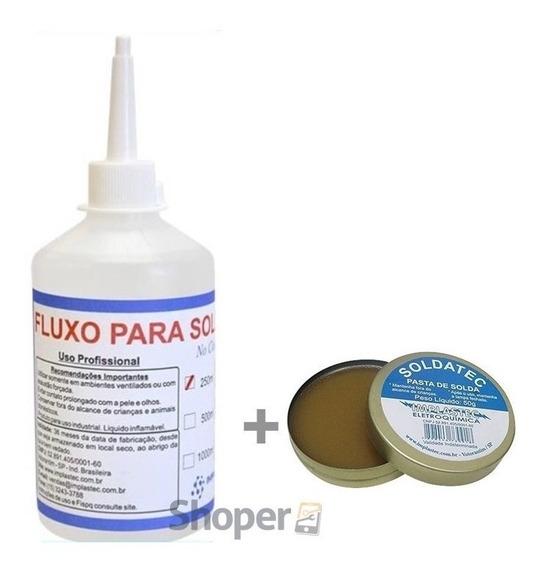 Fluxo Liquido No Clean 250ml + Pasta De Solda Soldatec + Nf
