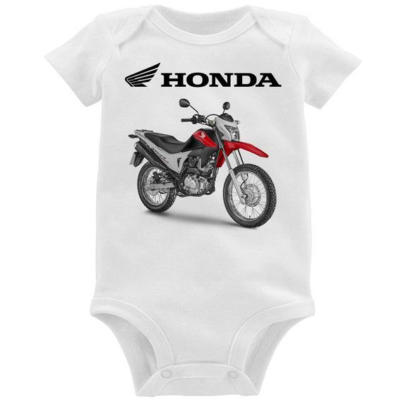 Body Bebê Moto Honda Nxr 160 Bros Vermelha