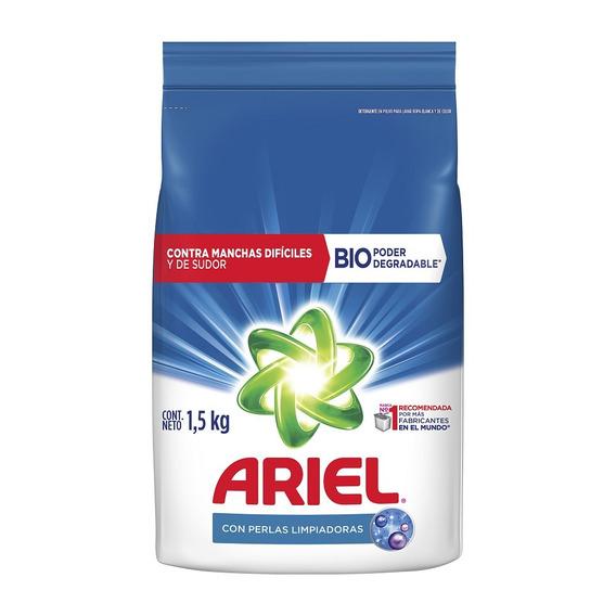 Detergente En Polvo Ariel Con Perlas Limpiadoras 1,5kg