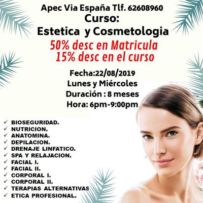 Curso De Estetica Y Cosmetologia, Avalado Por Meduca