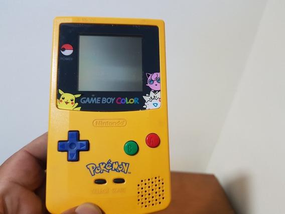 Game Boy Color Original Nintendo Edition Pikachu +01 Jogo.