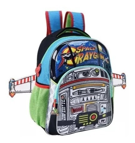 Mochila De Foguete Carros Escolar Infantil Masculino Cb3218