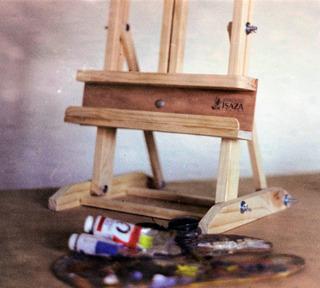 Caballete De Mesa En Madera Para Pintar O Exhibir.