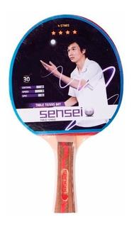 Paleta Ping Pong Sensei 4 Estrellas. Tenis De Mesa Pingpong