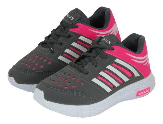Tênis Feminino Infantil Esportivo Zeus Para Menina Lindo!