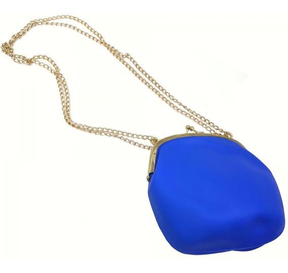 Bolsa Silicone 4un Vintage Azul Roxa Rosa Verde Tiracolo