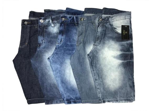 Kit 4 Bermudas Jeans Masculina 34 Ao 54 C/ Nf-e