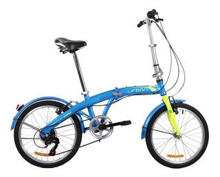 Bicicleta Plegable Dtfly Urban Shimano 6 Vel Verde