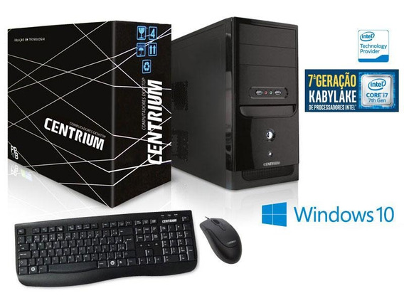 Computador Centrium Intel Core I7-7700 3.6ghz 8gb 1tb Win 10
