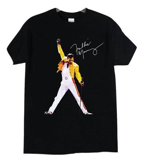 Queen Freddie Mercury Pose Signatu Rock Clasico Abominatron