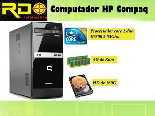 Imagem 1 de 4 de Cpu Hp Compaq 300b Core2duo 2.93ghz, 4 Gb Ddr3 Hd 160 Gb