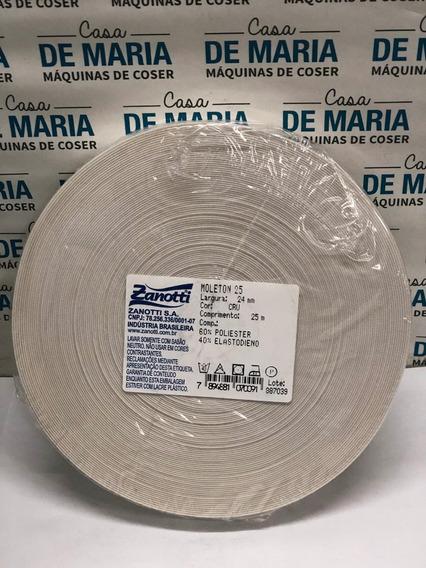 Elástico Plano Zanotti Moleton25 24mmx25mts Blanco