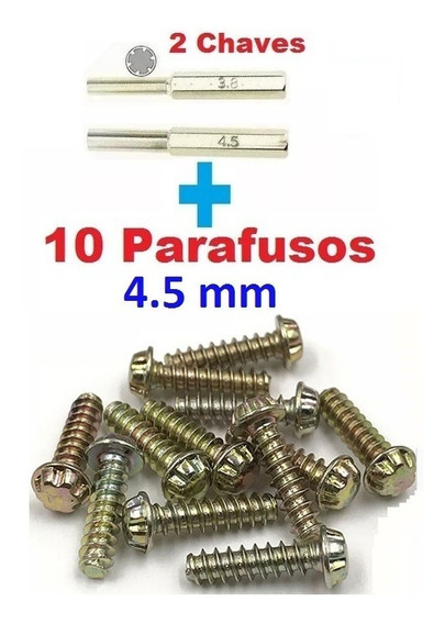 Chaves 3.8 E 4.5mm N64, Snes Game Cube + 10 Parafusos 4.5mm
