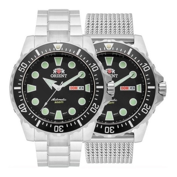 Relógio Orient Netuno 469ss073 Preto Scuba 500m Dive + Nfe