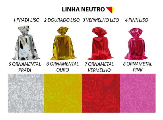 Embalagem Saco Para Presente Metalizado 25x37 C/ 100 Un.