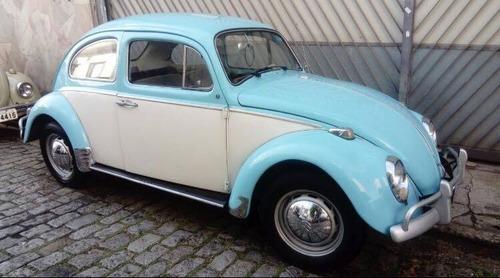 Fusca Vw - Volkswagen Ano 1966 Azul Bebê