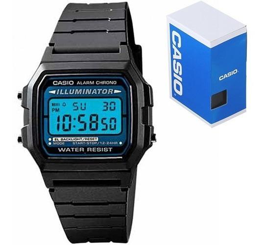 Reloj Casio Retro Vintage F105 Resistente Al Agua Iluminator