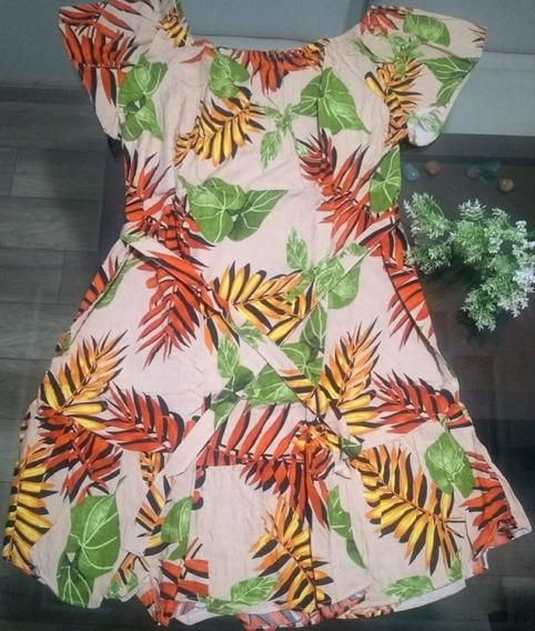 Vestido Ciganinha Florido Curto Verão Ombro A Ombro