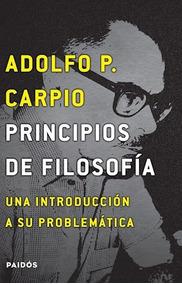 Libro Principios De Filosofia De Adolfo Carpio