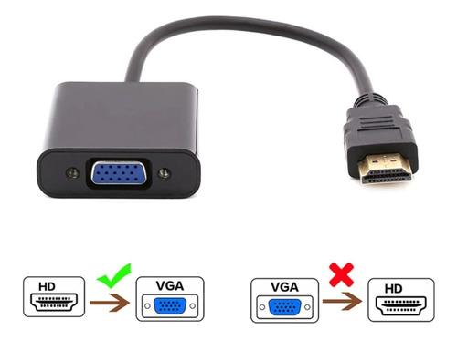 Imagen 1 de 4 de Conversor Compatible Con Hdmi A Vga Audio 1080p