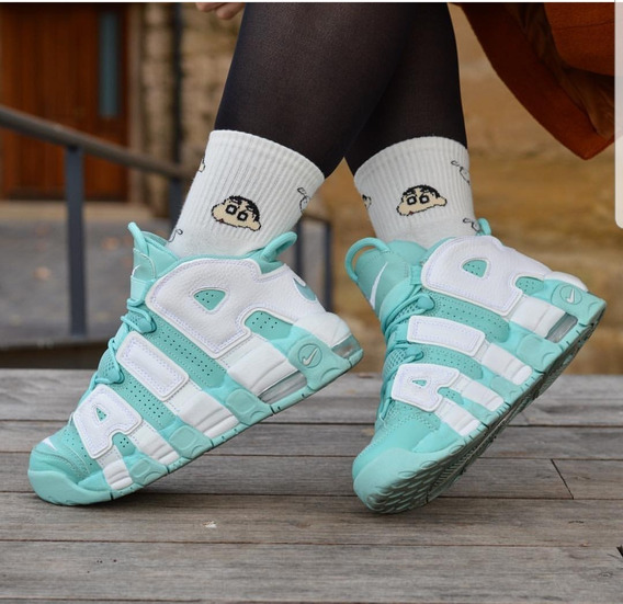 Zapatilla Air Nike Up Tempo Green Aqua