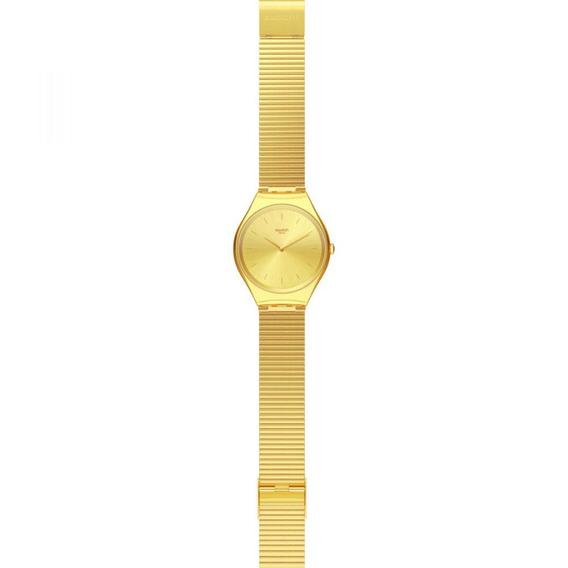Relógio Swatch Skinlngot Syxg100gg Aço Prata Original