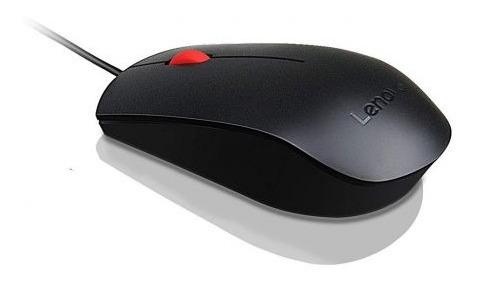 Mouse Usb Lenovo Essential - Preto + Nota Fiscal + Original