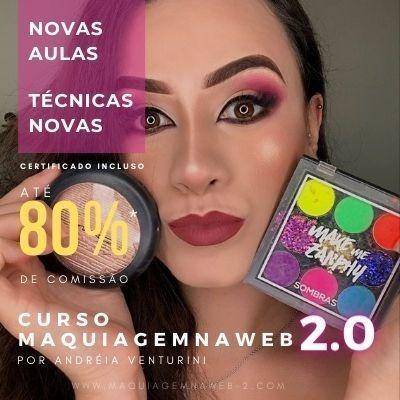 Imagem 1 de 1 de Curso Maquiagem Na Web 2.0 Andréia Venturini