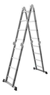 Escalera Multifuncion Aluminio /acero 4x4 Articulada 16 Esc