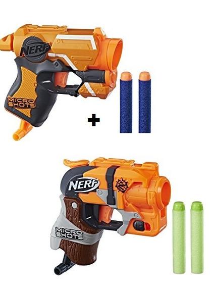 Lançador De Dardos Nerf 1firestrike E 1hammershot Microshots