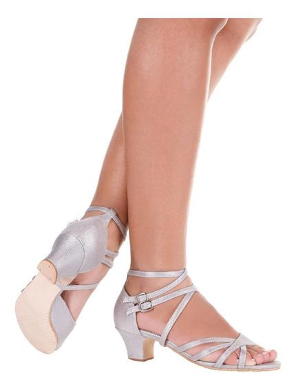 Sandalia De Dança Salto 4,5cm-só Dança-solado Camurça-bl660
