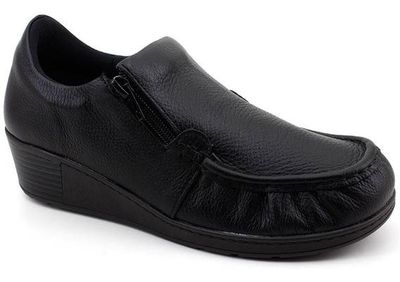 Sapato Feminino Usaflex Aa0201 Couro Loja Pixolé