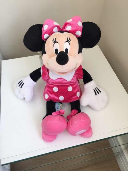 Pelúcia Da Disney Minnie Rosa Original 45 Cm