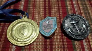 Medalla Pin Y Botón Nautico Etc Coleccionable