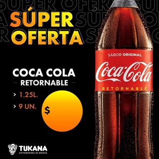 Coca Cola Vidrio Cajon 1.25 L
