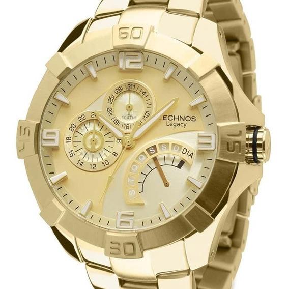 Relógio Technos Legacy Masculino Jr00ah/4x Dourado Original