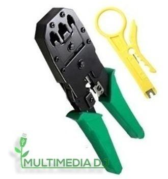 Crimpeadora Ponchadora Rj45 Rj11 Rj9 + Pela Cable Red Mdj