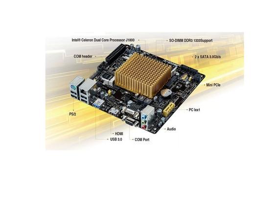 Placa Mae J1800i-c/br Asus P/ Celeron Dual Core Com Caixa