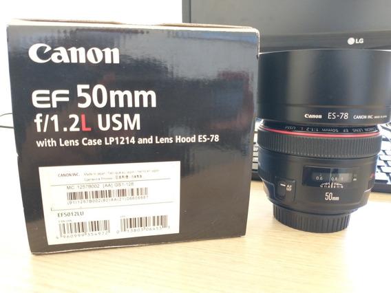 Lente Canon 50mm 1.2 L Usm