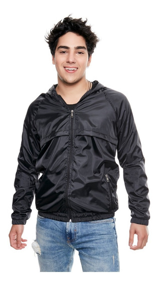 Campera Hombre Bomber Rompe Viento 3025 Negro Outside Tokyo
