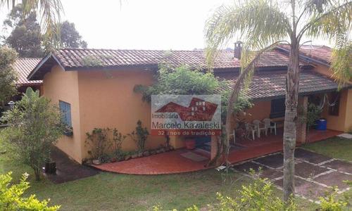 Chácara Com 3 Dormitórios À Venda, 1200 M² Por R$ 450.000,00 - Bairro Do Carmo (canguera) - São Roque/sp - Ch0001