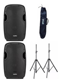 2 Caixa Ativa 12 Ksr Pro K812 Bluetooth +tripe +bag Kadu Som