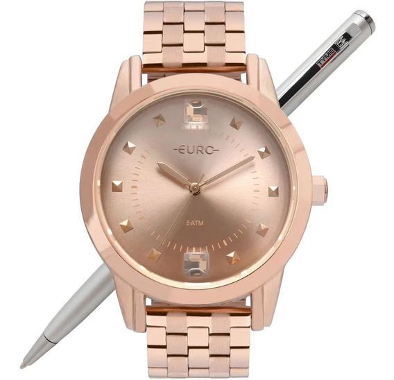 Relógio Euro Feminino Spike Illusion Rosé Eu2035yrs/4j - Nfe