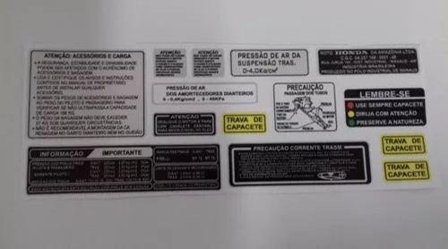 Cbx 750 - Etiqueta De Advertência - Honda 750 - Frete Grátis
