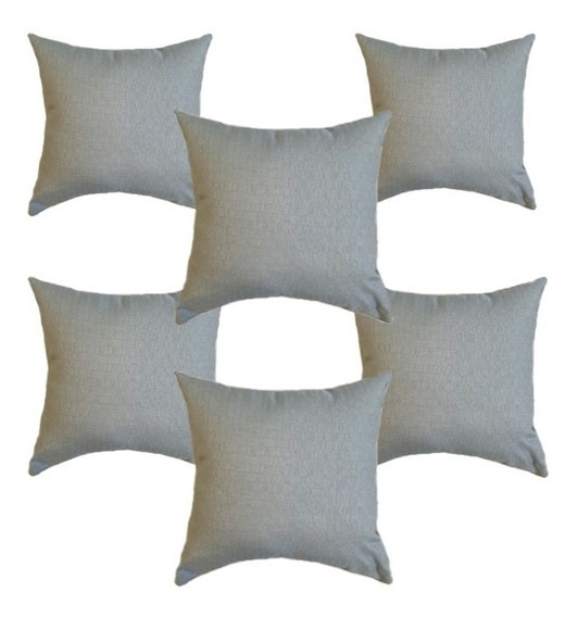 6 Cojines Decorativos Textura Cua Azul Claro Salas Recamaras